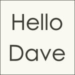 Hello Dave Logo